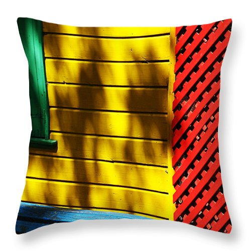 Buenos Aires Throw Pillow featuring the photograph Colors by Osvaldo Hamer