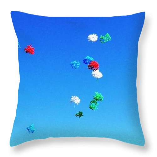 Photography Throw Pillow featuring the photograph Colorz Flying High by Piety Dsilva