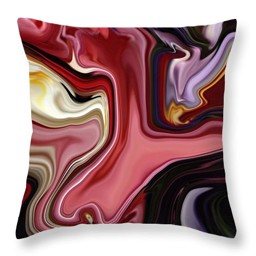 Colour Throw Pillow featuring the digital art Colour Hair Day by Rabi Khan