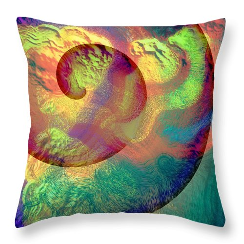 Abstract Throw Pillow featuring the digital art Colour Spiral by Grant Wilson