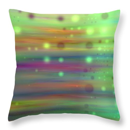 Art Digital Art Throw Pillow featuring the digital art Colour13mlv - Impressions by Alex Porter