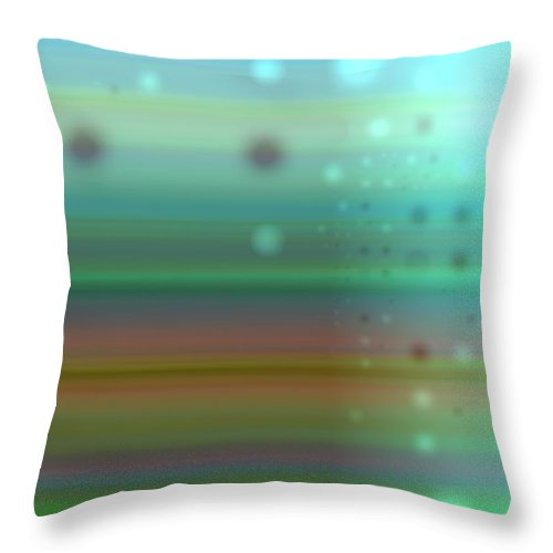 Art Digital Art Throw Pillow featuring the digital art Colour17mlv - Impressions by Alex Porter