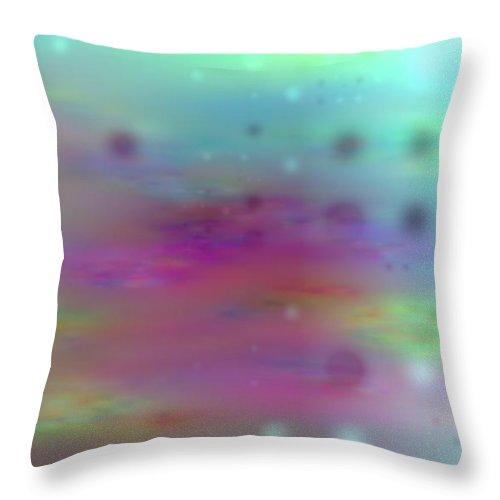 Art Digital Art Throw Pillow featuring the digital art Colour21mlv - Impressions by Alex Porter
