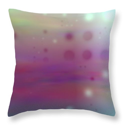 Art Digital Art Throw Pillow featuring the digital art Colour22mlv - Impressions by Alex Porter