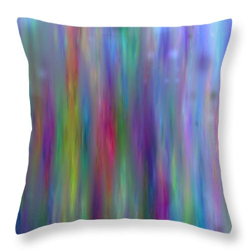 Art Digital Art Throw Pillow featuring the digital art Colour5mlv by Alex Porter
