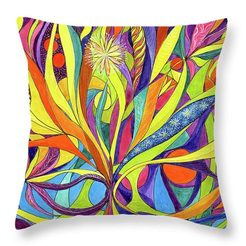 Colourful Throw Pillow featuring the painting Colourful 2009 by Charles Cater
