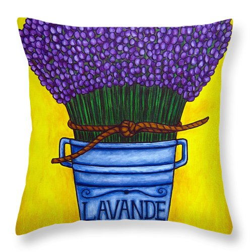 Antique Throw Pillow featuring the painting Colours Of Provence by Lisa Lorenz