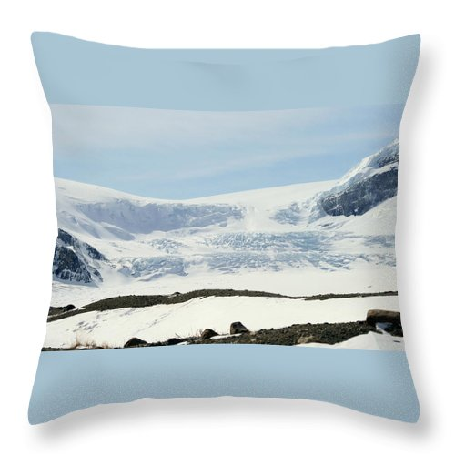 Glacier Throw Pillow featuring the photograph Columbia Icefields by Tiffany Vest