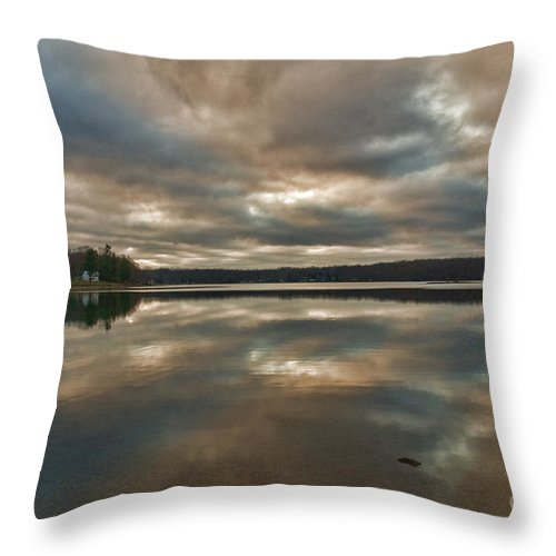 Columbia Ct Throw Pillow featuring the photograph Columbia Lake by Edward Sobuta