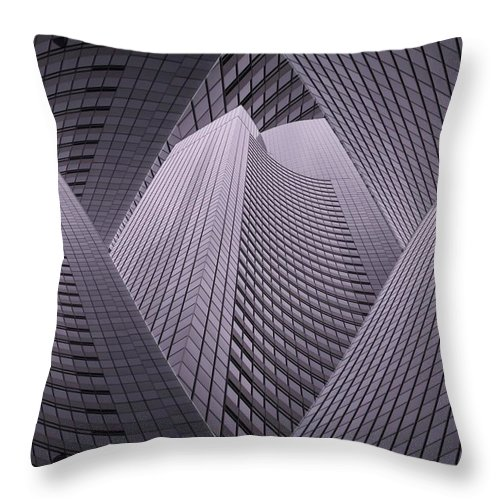 Seattle Throw Pillow featuring the digital art Columbia Tower Seattle Wa 2 by Tim Allen