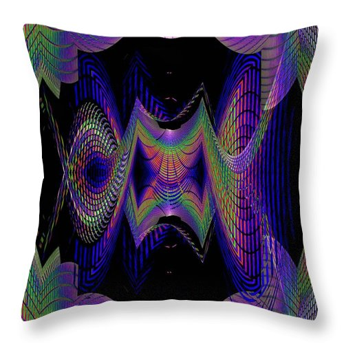 Seattle Throw Pillow featuring the digital art Columbia Tower Vortex 2 by Tim Allen