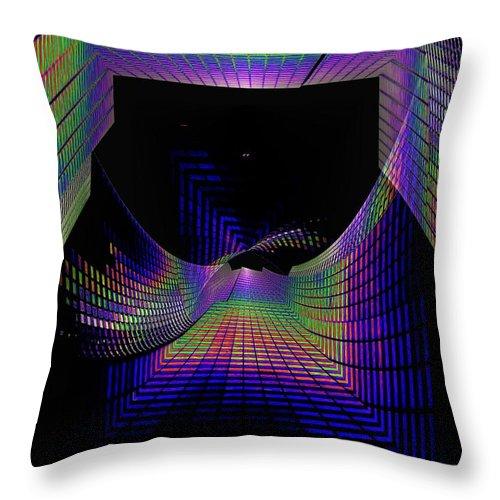 Seattle Throw Pillow featuring the digital art Columbia Tower Vortex by Tim Allen