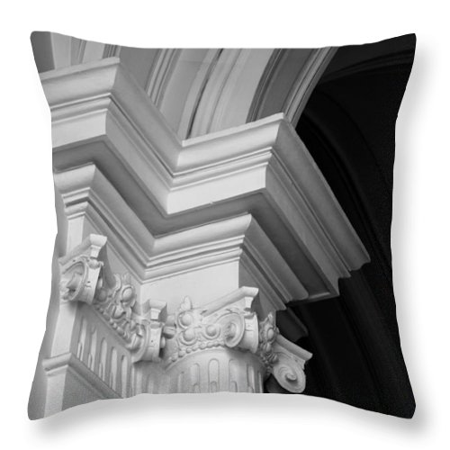 Architectural Elements Throw Pillow featuring the photograph Columns At Hermitage by Donna Corless