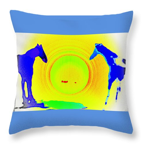 Horse Throw Pillow featuring the photograph Come With Me And Enter My Big Green Apple She Said  by Hilde Widerberg