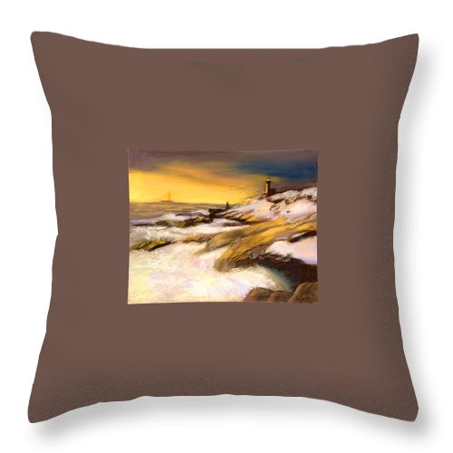 Seascape Throw Pillow featuring the painting Come Home by Gail Kirtz