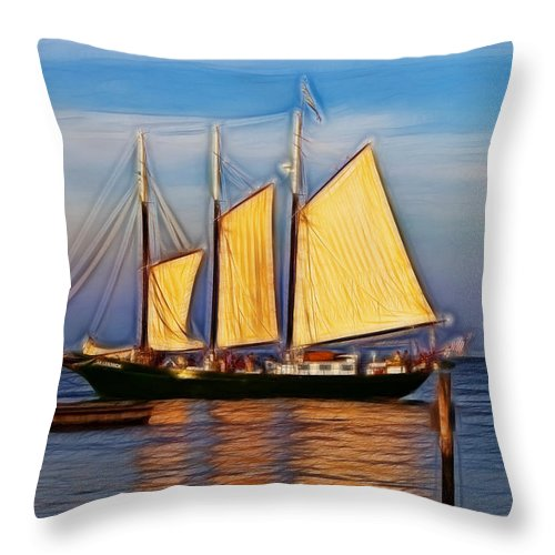 Alliance Throw Pillow featuring the photograph Come Sail Away by Amy Jackson