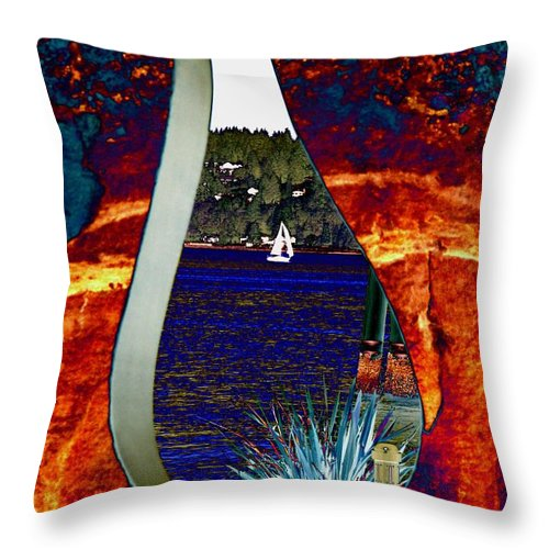 Bremerton Throw Pillow featuring the photograph Come Sail Away by Tim Allen