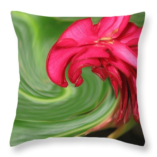 Flower Throw Pillow featuring the photograph Come To Me by Ian MacDonald