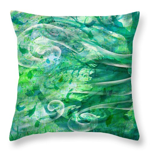 Abstract Throw Pillow featuring the digital art Come To Me by Rachel Christine Nowicki
