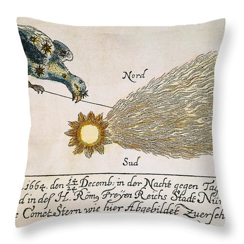 1664 Throw Pillow featuring the photograph Comet, 1664 by Granger