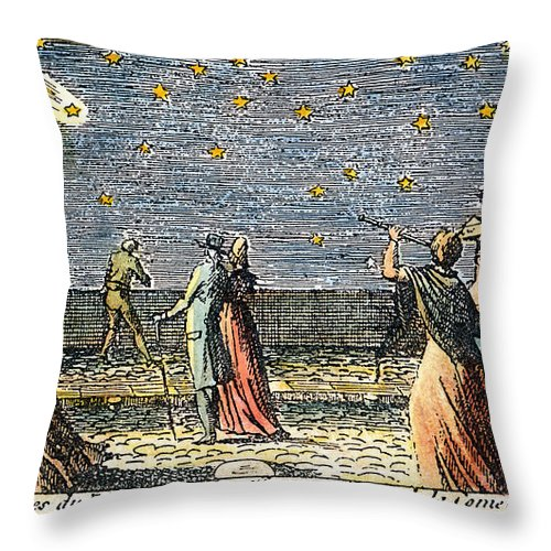 1812 Throw Pillow featuring the photograph Comet Of 1812 by Granger