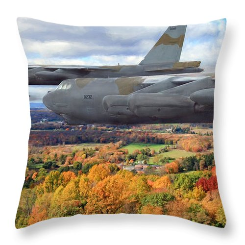 Aviation Throw Pillow featuring the digital art Coming Home by Peter Chilelli