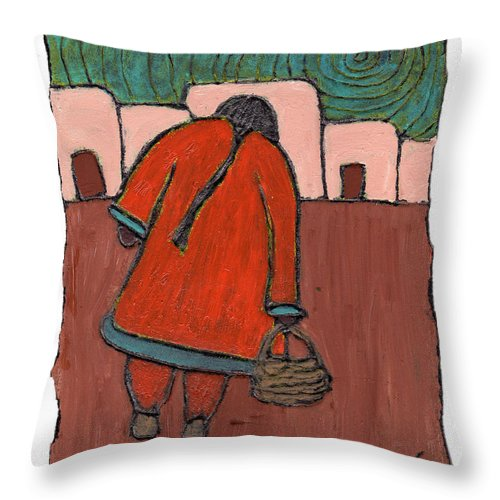 Southwest Throw Pillow featuring the painting Coming Home by Wayne Potrafka