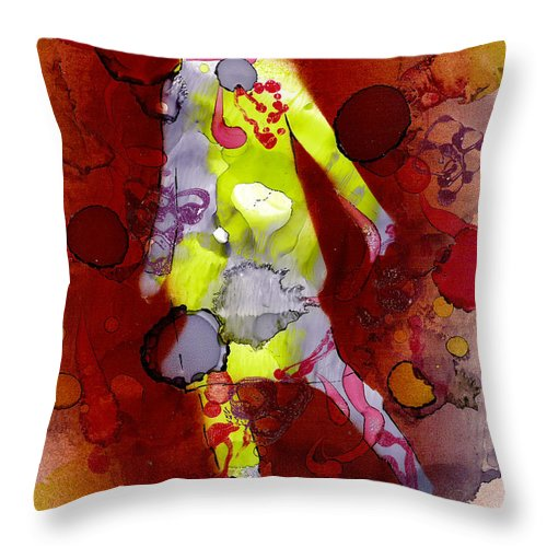 Woman Girl Female Impressionist Empowerment Throw Pillow featuring the mixed media Coming Of Age by Susan Kubes