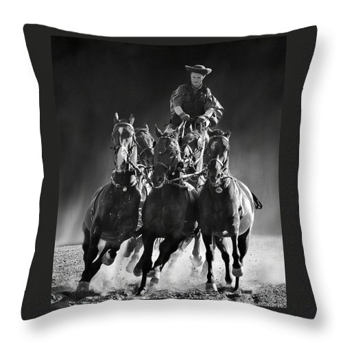 Hungary Throw Pillow featuring the photograph Coming Through by Alan Toepfer