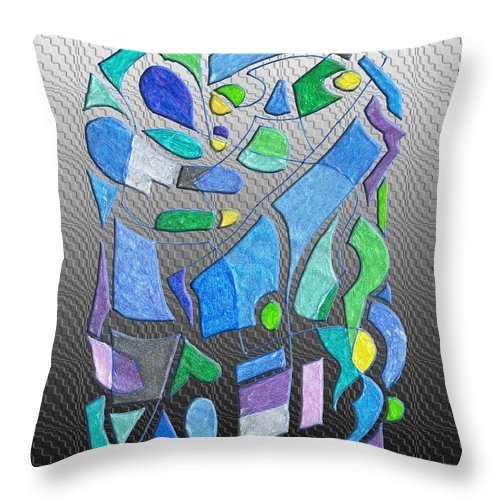 Colorful Throw Pillow featuring the digital art Coming Together by Mark Sellers