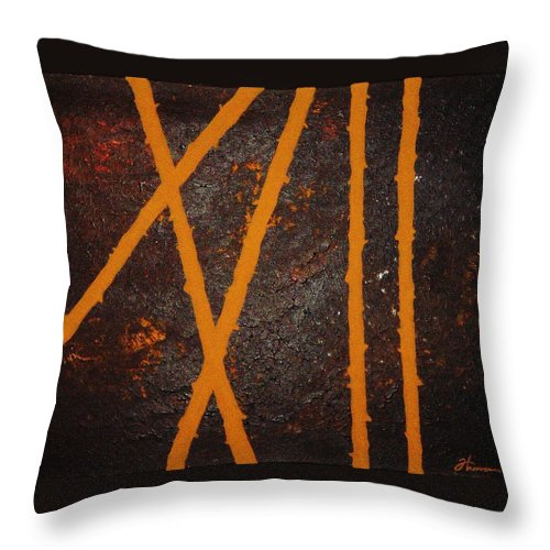 Original Throw Pillow featuring the painting Coming Together by Todd Hoover