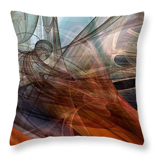 Abstract Throw Pillow featuring the digital art Complex Decisions by Ruth Palmer