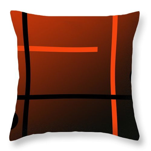 Abstract Throw Pillow featuring the digital art Complicated Love by Laura Greco