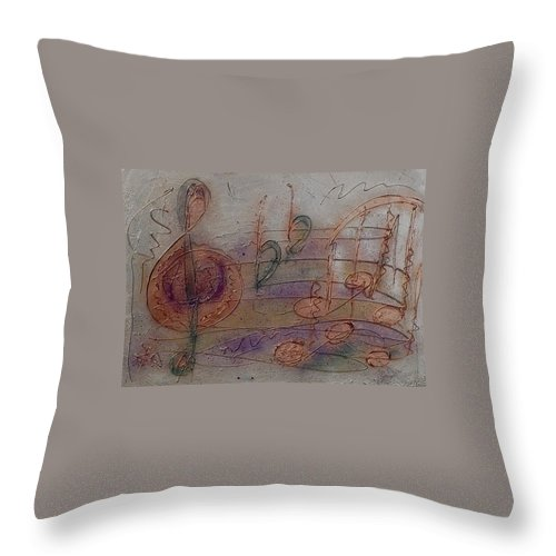 Impressionist Throw Pillow featuring the painting Composition In B Flat by Anita Burgermeister