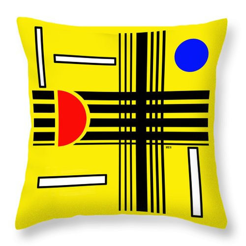 Abstract Throw Pillow featuring the digital art Composition 3 by Lois Boyce