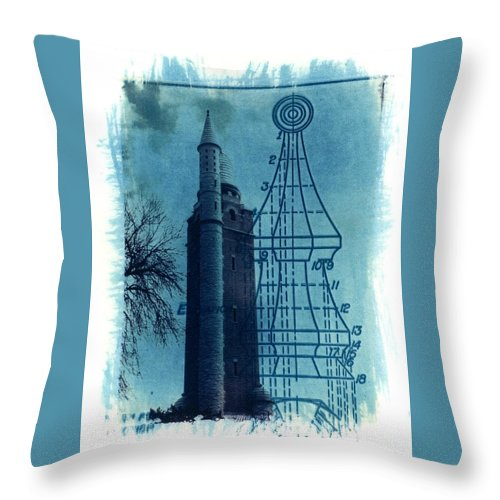 Alternative Process Photography Throw Pillow featuring the photograph Compton Blueprint by Jane Linders