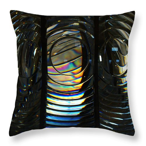 Abstract Throw Pillow featuring the photograph Concentric Glass Prisms by Linda Shafer