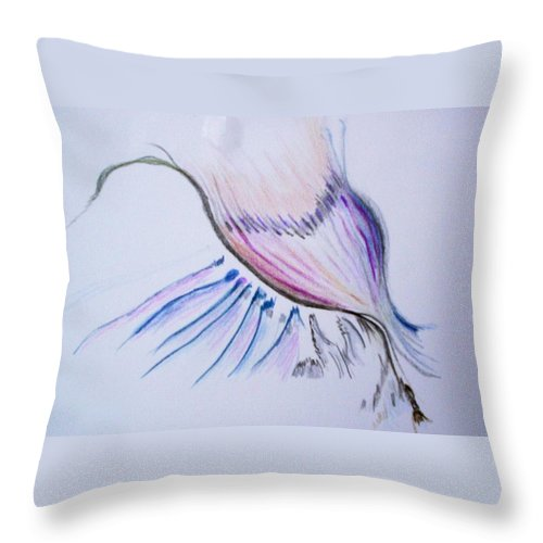 Abstract Painting Throw Pillow featuring the painting Conception by Suzanne Udell Levinger