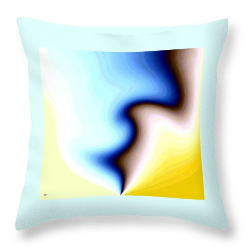 #faceprofileabstract Throw Pillow featuring the digital art Conceptual 7 by Will Borden