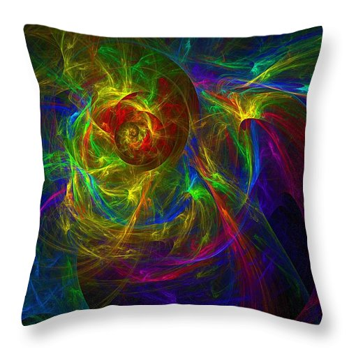 Abstract Throw Pillow featuring the digital art Conceptual Alchemy by Lyle Hatch