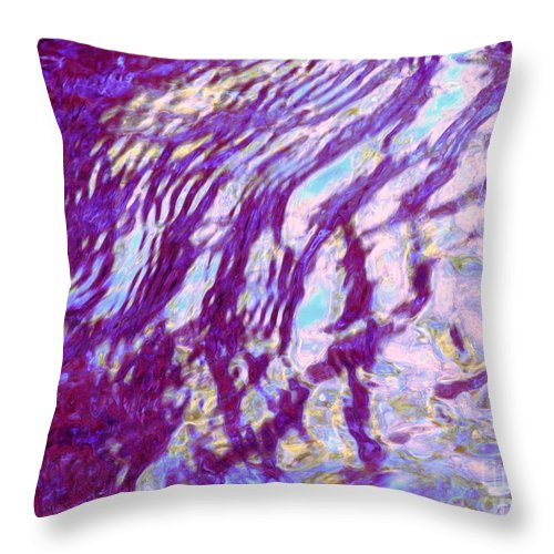 Water Art Throw Pillow featuring the photograph Concurrence by Sybil Staples