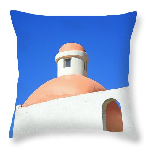 Building Throw Pillow featuring the photograph Conejos by J R Seymour