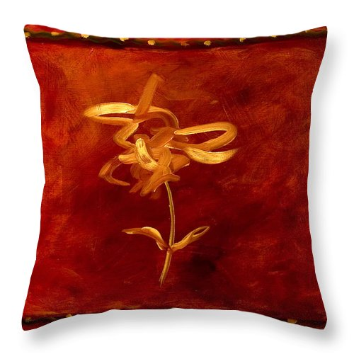 Abstract Throw Pillow featuring the painting Confidence by Shannon Grissom