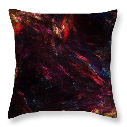 Abstract Digital Painting Throw Pillow featuring the digital art Conflict by David Lane