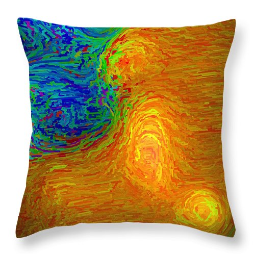 Emotion Throw Pillow featuring the digital art Confusion by April Patterson