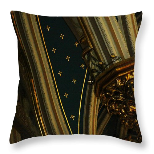 Bronze Throw Pillow featuring the photograph Confusion by Deana Connell