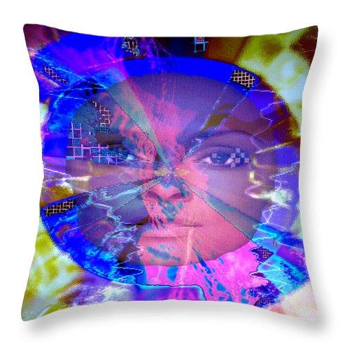Congo Throw Pillow featuring the photograph Congo Queen Mandala by Seth Weaver