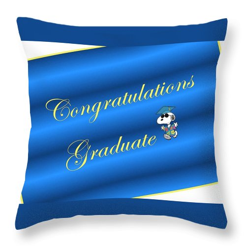 Congratulations Throw Pillow featuring the digital art Congratulaitons Graduate by Giselle Norville