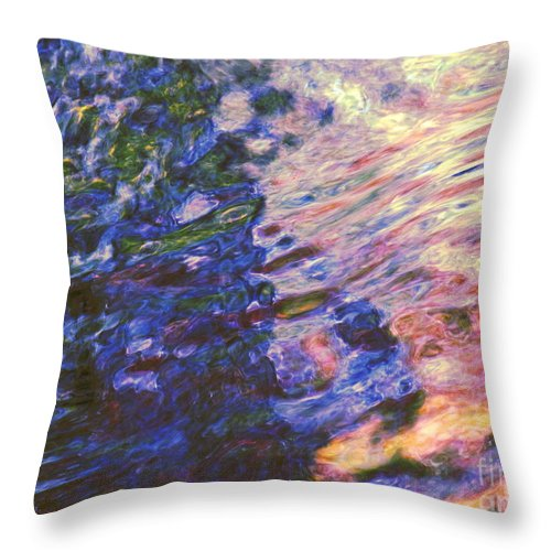 Abstract Throw Pillow featuring the photograph Congruent Forces by Sybil Staples