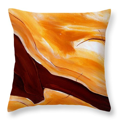 Abstract Throw Pillow featuring the painting Connect by Ruth Palmer